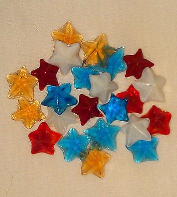 Gel Candle Embeds - Stars, Miniature Glass Embeds, Gel Candle Embeds