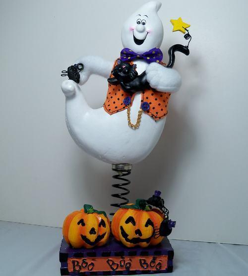 Cute Halloween Decoration 2002 Avon Bobble Ghost NIB