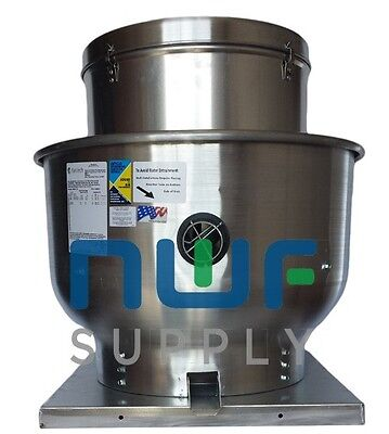 Restaurant Upblast Commercial Hood Exhaust Fan 22x22 Base 13 Hp 1534 Cfm