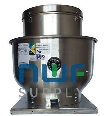 Restaurant Upblast Commercial Hood Exhaust Fan 19 X 19 Base 14 Hp 1179 Cfm