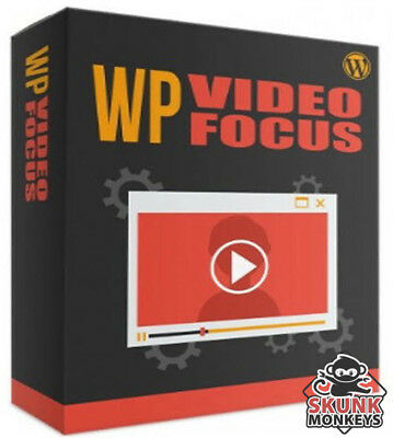 Wp Video Focus Wordpress Plugin With Master Resell Rights Make Money Online New