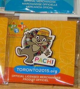2 PACHI 2015 Pan Am Games Mascots including 2 Pachi Pins Kingston Kingston Area image 2