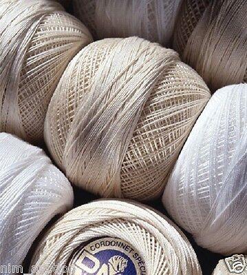 DMC Cordonnet Special Crochet Cotton Sizes 30-100 White and -