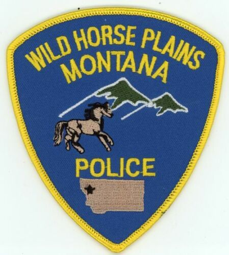 WILD HORSE PLAINS MONTANA MT POLICE COLORFUL PATCH SHERIFF