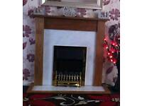 Fireplace and Fire gold excellent condition electric