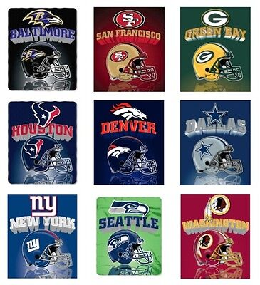 "NFL 50"" x 60"" Fleece Blanket, Mirror Style - Pick Your Team"