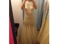 Brand new champagne formal dress- tags still on