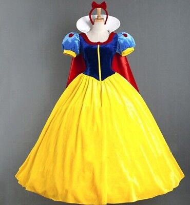 Anime Costumes Adult Halloween Cartoon Princess Snow White Costume Women Sale