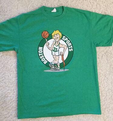 BOSTON CELTICS BASKETBALL VINTAGE LARRY BIRD 33 CARICATURE NBA T-Shirt Adult Med