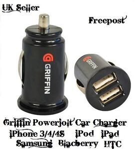 GRIFFIN TWIN 2 USB PORT 12V UNIVERSAL CAR CIGAR SOCKET LIGHTER CHARGER ADAPTER