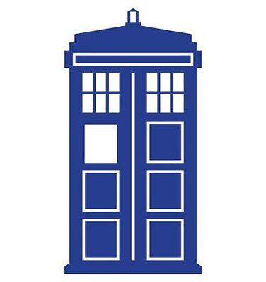 Blue Doctor Who Tardis Sticker For Car or Computers, Air Mac decal