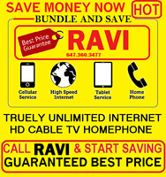 INTERNET  UNLIMITED ,INTERNET & CABLE TV,  PHONE, BUNDLE