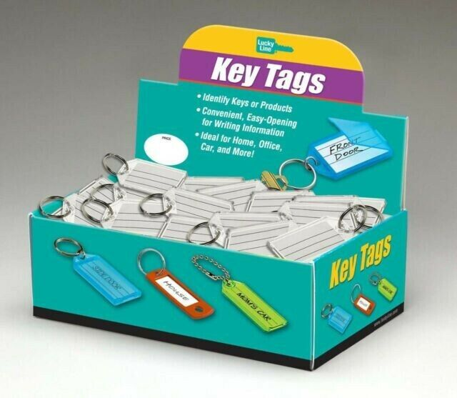 Lucky Line Products Key Tag with Split Ring (100 per Box) Brand New Made in USA