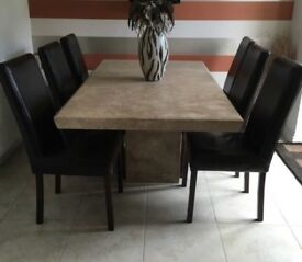 Barker & Stonehouse travertine marble table