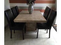 Barker & Stonehouse travertine marble table