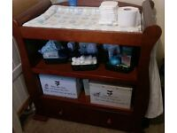 Baby changing table with drawer
