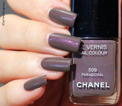 Le Vernis Nail (CHANEL ✿ LE VERNIS Nail Polish Colour Nagellack 509 PARADOXAL dunkel lila NEUw.)