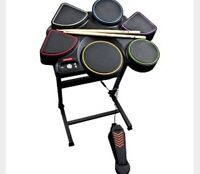 XBOX 360 Rock revolution drum kit and game