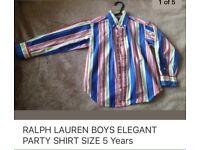 RALPH LAUREN BOYS SHIRT 5 Years like new