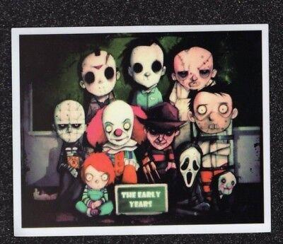 Freddy Krueger, Ghostface, Jason, Chucky as Kids Vinyl Sticker (Mix/Match Promo) - Freddy Krueger Child