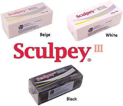 Sculpey Polymer Clay 1 Pound (Sculpey III Polymer Clay 1 Pound CHOOSE White Black or Beige)