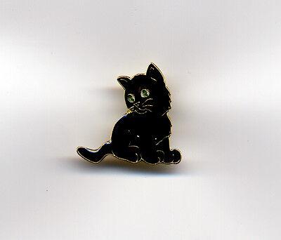 BLACK KITTEN ENAMEL PIN BADGE NEW