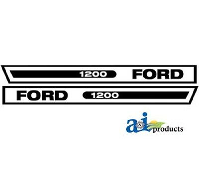 Tractor Hood Decal Set To Fit Ford 1200 F1200vc