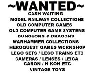 Wanted Model Railway / Warhammer / Computer games / Camera Collections