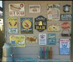 Vintage Tin signs Center