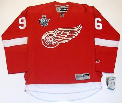 Tomas Holmstrom Detroit Red Wings - TOMAS HOLMSTROM DETROIT RED WINGS '08 CUP REEBOK PREMIER HOME JERSEY