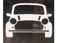 Decal Classic Mini Rover /'Triggers Broom/' Car Window//Bumper Sticker