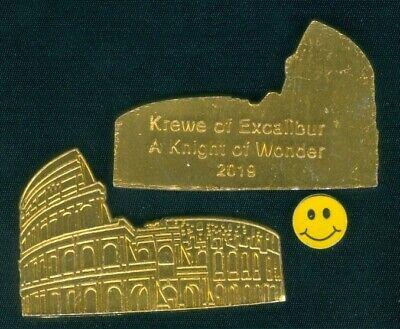 2019 Krewe Of Excalibur Roman Colosseum Theme- Gold Aluminum Mardi Gras - Mardi Gras Themes