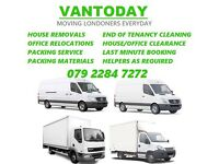 Removals and Office Relocation Experts London Man and Van Hire, House Moving and Clearance London