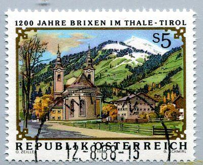 Österreich Austria 1931 1200 J. Brixen im Thale,- Ortsansicht 1988 °