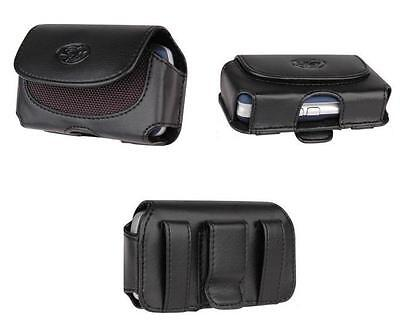 Leather Case For Straight Talk Lg Optimus Dynamic L38c (fits W Hard Case On)