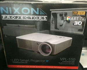 4K Ultra HD Smart Projector & 72' Screen -Projector of the year!