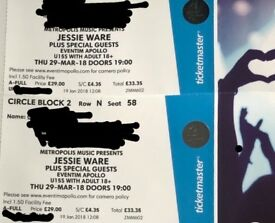 2 x Jessie Ware Tickets Eventim Apollo London