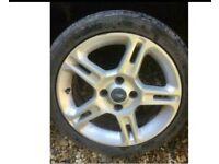 """16"""" Ford Fiesta split star spoke zetec s titanium alloy wheel alloy with tyres"""