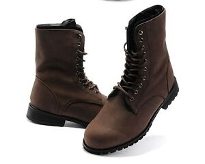 Retro Vintag Punk Combat Winter Men's boots England-style Casual  shoes