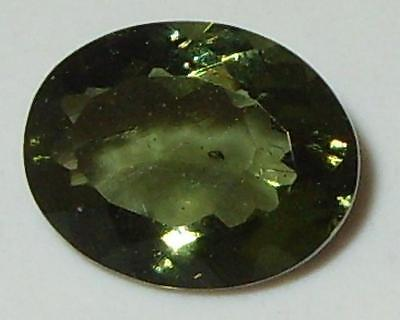 1.84ct Faceted TOP QUALITY Natural Czechoslovakia Moldavite Oval Cut 10x8mm