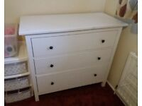 FREE DELIVERY IKEA HEMNES WHITE STAIN CHEST OF 3 DRAWERS GREAT CONDITION