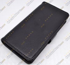 Black Leather Cover Flip Case WALLET For Sony Ericsson Xperia Arc X12 Lt15i