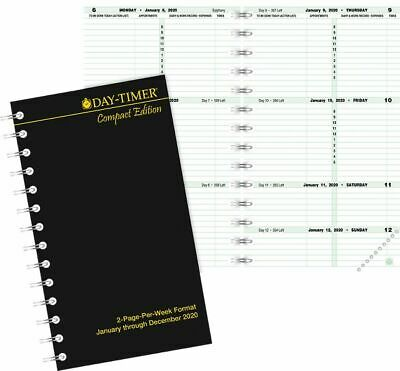 2-page-per-week Planner Refill Compact Size -