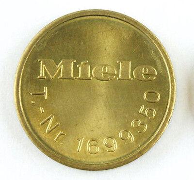 25 Original Miele 1699350 Trocknermarken/Trocknermünzen/Waschmarken/Münzen NEU