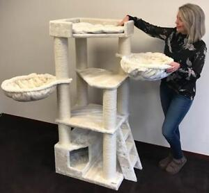 "59"" Cat Tree for Large Cats (beige or gray)"