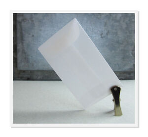 25 Vellum Mini Envelopes, Gummed Flap,Gift Enclosure,Mini Envelopes,Confetti