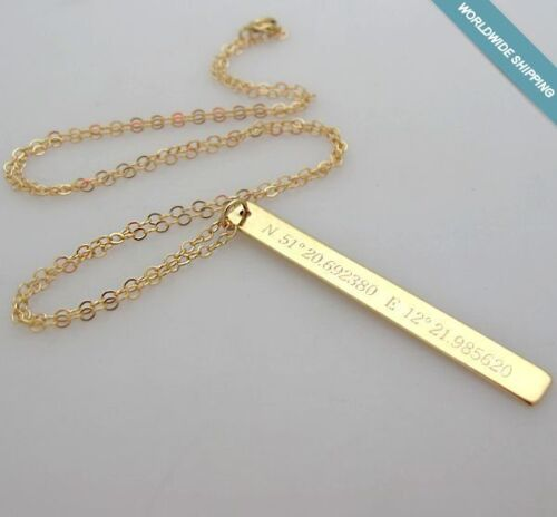 Gps Coordinates Necklace: Latitude Longitude Necklace