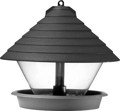 Hammarplast Vogelfutterhaus schwarz 27cm Kunststoff rund schwarz Vogelhäuschen