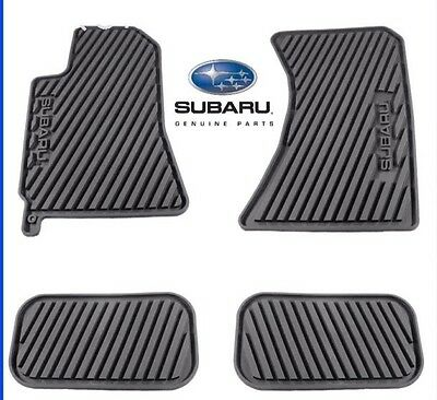 2015 2018 Subaru Forester All weather Heavy gauge Rubber floor mats Black OEM