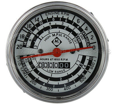 Allis Chalmers New D14 D15 D17 I-40 I-400 Tachometer Gas W Ac Logo
